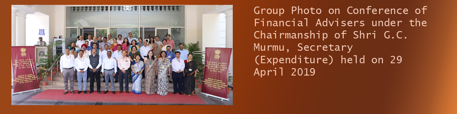 Conference of Financial Advisers under the Chairmanship of Shri G C Murmu, Secretary Expenditure