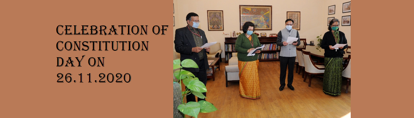 Celebration of Constitution Day on 26th November,2020